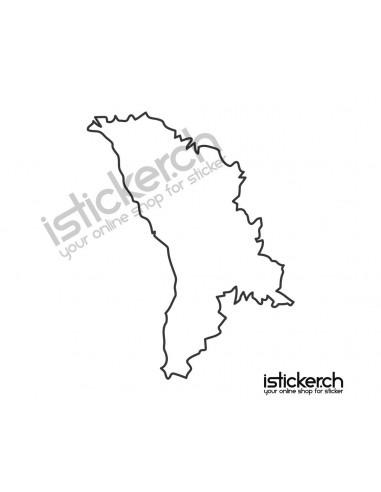 Länder & Wappen Landkarte Moldawien