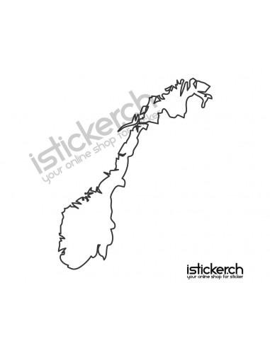 Länder & Wappen Landkarte Norwegen