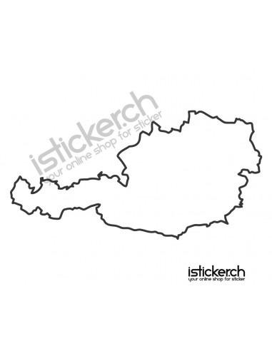 Länder & Wappen Landkarte Österreich