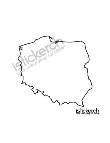 Länder & Wappen Landkarte Polen