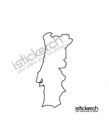 Länder & Wappen Landkarte Portugal