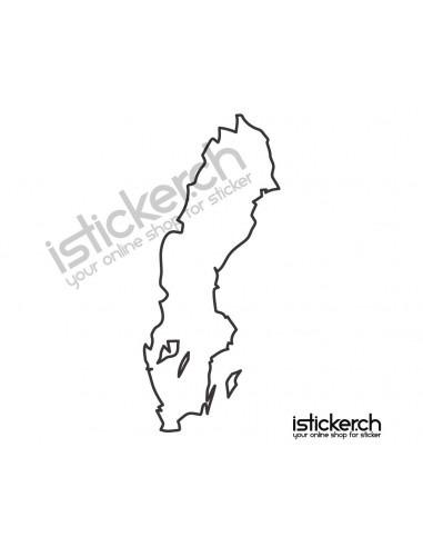Landkarte Schweden