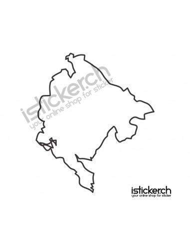 Länder & Wappen Landkarte Serbien