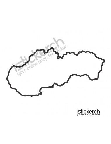 Länder & Wappen Landkarte Slowakei