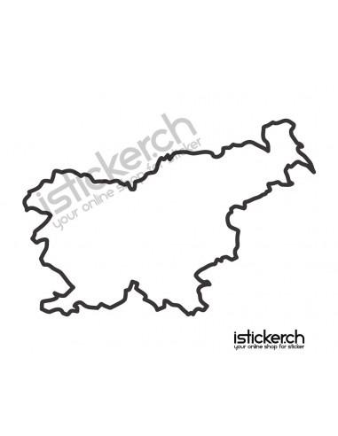 Länder & Wappen Landkarte Slowenien