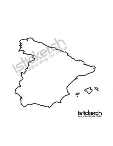 Länder & Wappen Landkarte Spanien