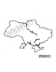 Landkarte Ukraine
