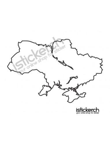 Länder & Wappen Landkarte Ukraine