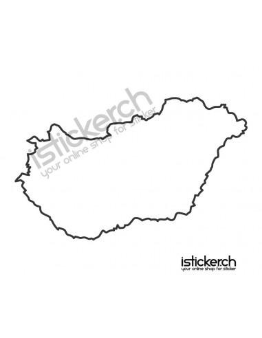 Länder & Wappen Landkarte Ungarn