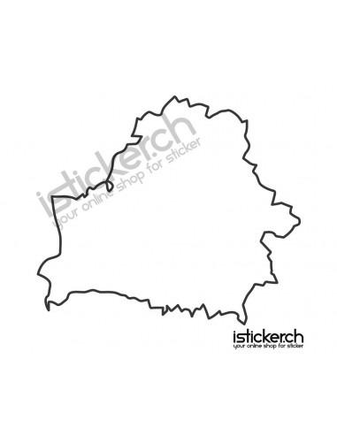 Landkarte Weissrussland