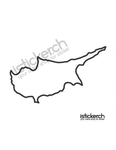 Landkarte Zypren