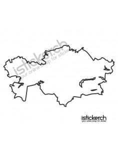 Landkarte Kasachstan