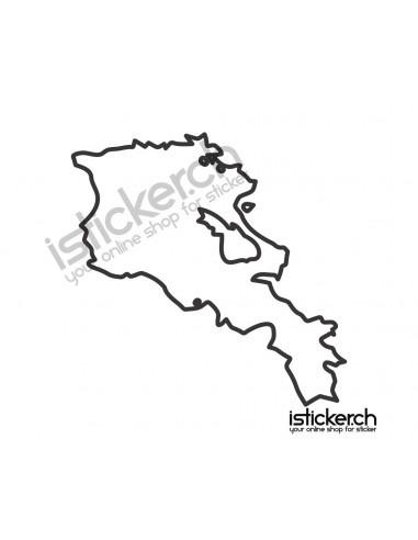 Landkarte Armenien