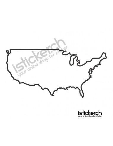 Länder & Wappen Landkarte Amerika