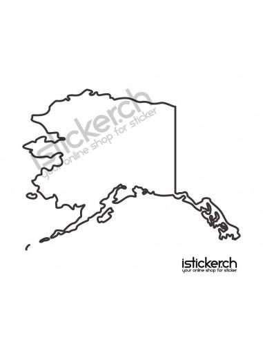 Länder & Wappen Landkarte Alaska