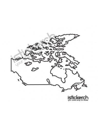 Landkarte Canada