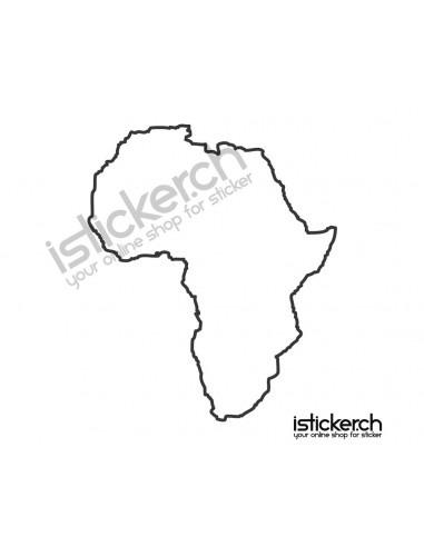 Länder & Wappen Landkarte Afrika